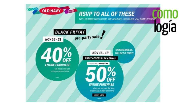Ofertas Old Navy viernes negro - Página 1