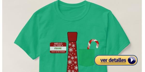 Camiseta personalizada regalos de navidad baratos