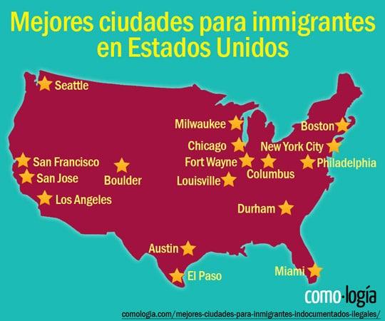 mejores ciudades para inmigrantes en estados unidos