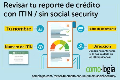 revisar tu crédito con itin sin social