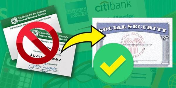 transferir tu historial de credito ITIN a un numero de social security