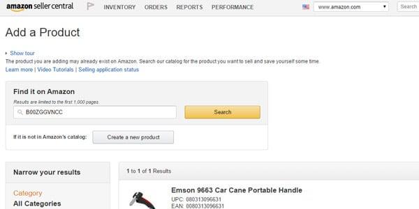 Añade productos a Amazon dropshipping