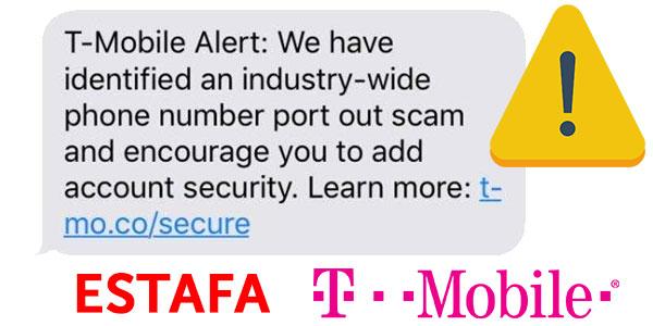 alerta de estafa T-Mobile