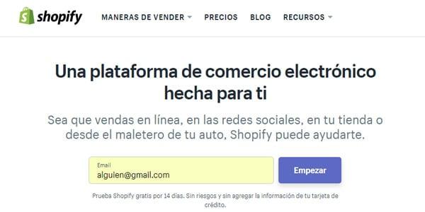 crear tienda shopify dropshipping