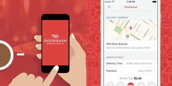 trabajar entregando comida con DoorDash