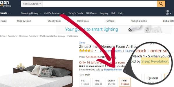 vendedor patrocinado en Amazon