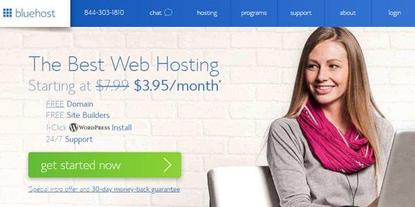 Bluehost mejor hosting vender online