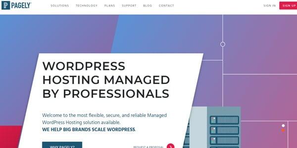 Pagely alojamiento web tienda virtual
