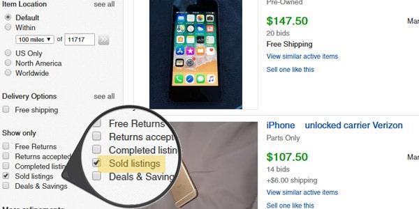 artículos vendidos vender en ebay