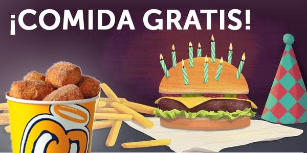 comida gratis productos gratis en tu cumpleaños