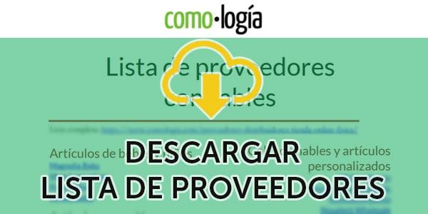 descargar lista de proveedores confiables pdf