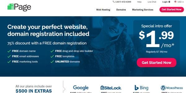 ipage tienda virtual hosting