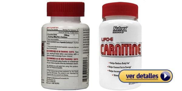 Nutrex Lipo 6 Carnitine L carnitina con efecto mas rapido