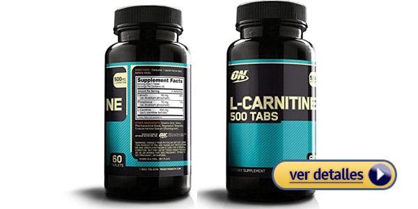 Optimum Nutrition L Carnitine carnitina con calcio y fosforo