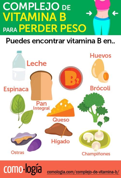 complejo b perder peso fuentes de vitamina b