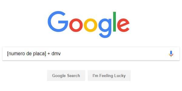 buscar en google numero de placa dueno propietario