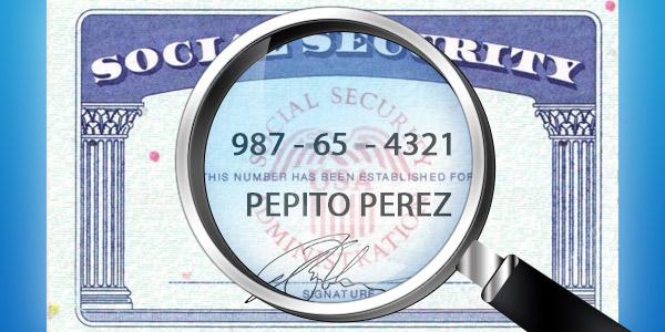encontrar el número de social de cualquier persona social security
