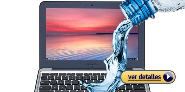 ASUS Chromebook laptop a prueba de agua resistente