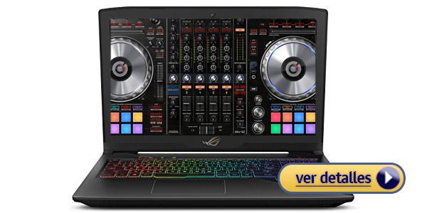 ASUS ROG Strix laptop para disc jockey