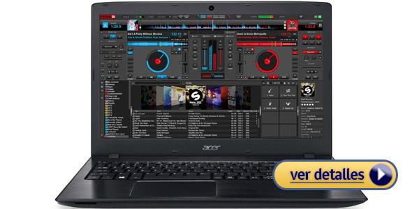 Acer Aspire E 15 laptop barata para un DJ