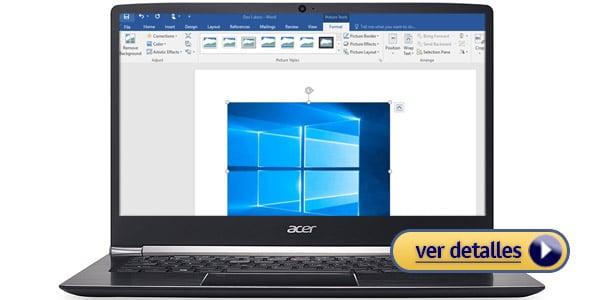 Acer Swift 5 bloggers con mejor duracion de bateria