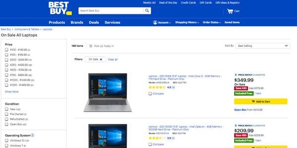 Best Buy ofertas en laptop baratas