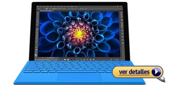 Microsoft Surface Pro 4 Mejor laptop 2 en 1 para viajar