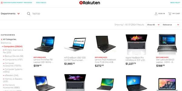 Rakuten ofertas en laptop barata
