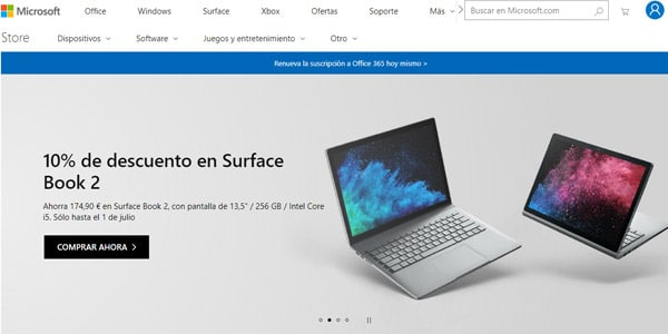 Tienda Microsoft laptop barata