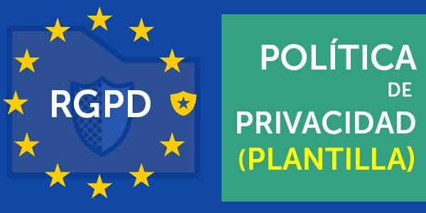 politica de privacidad RGPD