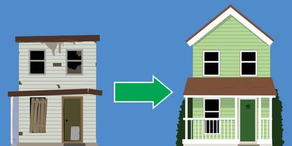 como renovar casas por dinero