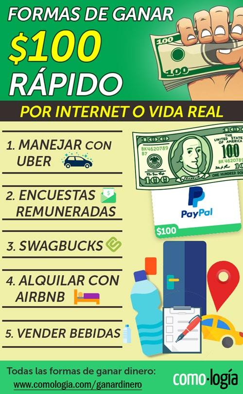 ganar 100 dolares internet vida real