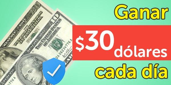 ganar 30 dólares al día