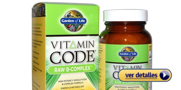 garden of life Mejor complejo B hecho con ingredientes naturales
