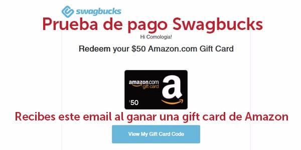 prueba de pago swagbucks