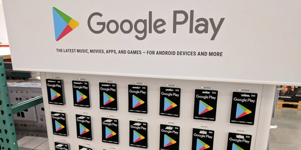 google play tarjetas de regalo costco