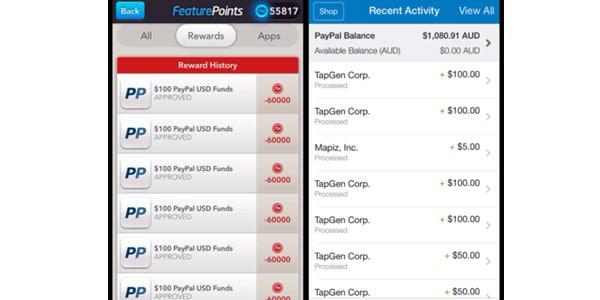 prueba de pago featurepoints tarjetas de regalo