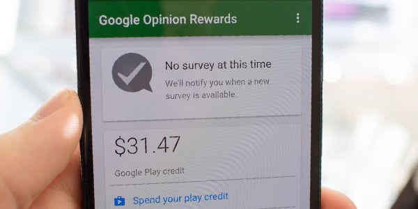prueba de pago google opinion rewards google play credito