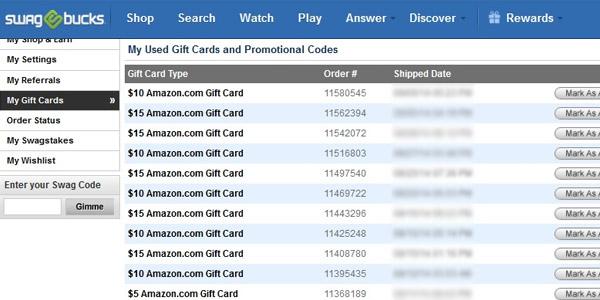 swagbucks prueba de pago codigos gift card