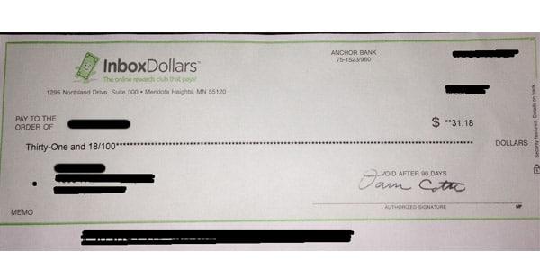 inboxdollars prueba de pago encuestas remuneradas