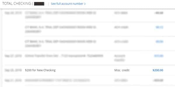 bono chase total checking cuenta de cheques
