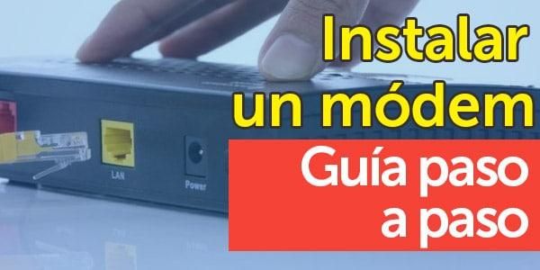 como instalar modem