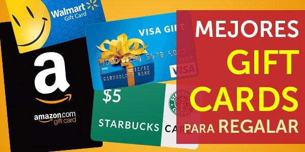 mejores gift cards para regalar tarjetas de regalo