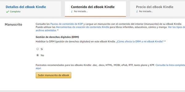 Gestion de derechos digitales DRM amazon libro