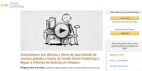 Regístrate como autor en Amazon kindle publicar libro
