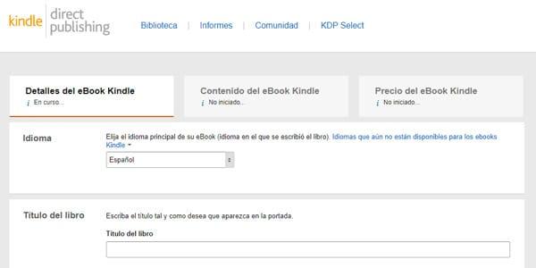 agregar un libro a amazon kindle detalles del ebook