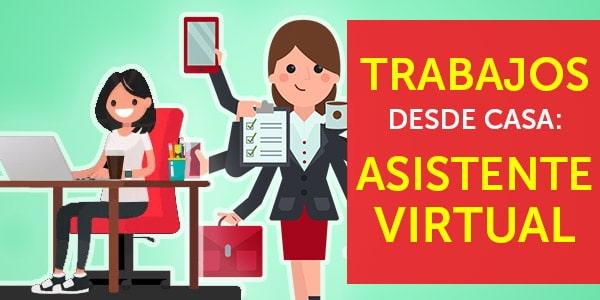 asistente virtual trabajos desde casa