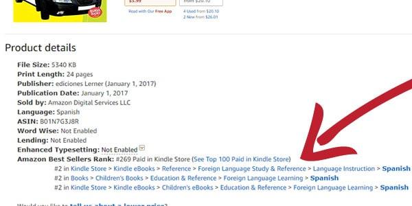 categorias de libro amazon publicar un ebook