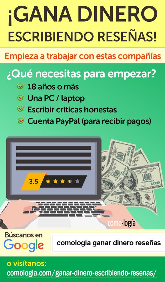 ganar dinero con reseñas
