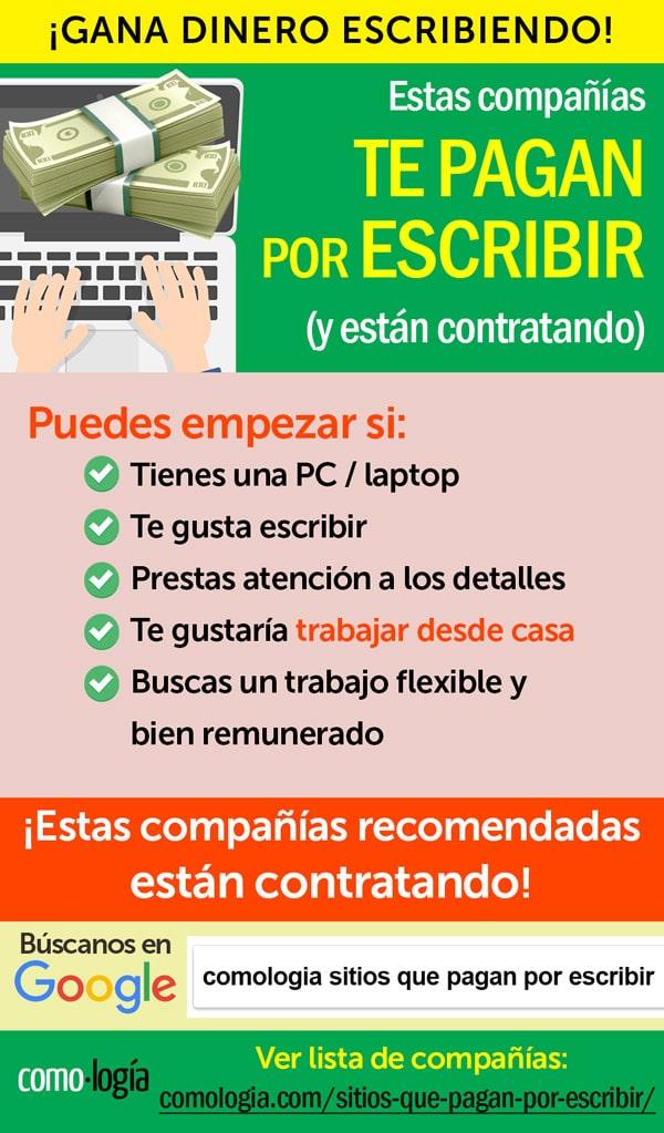 ganar dinero escribir en espanol